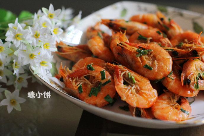 葱香油爆虾
