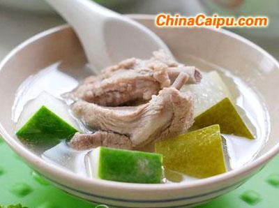 带皮冬瓜排骨汤的做法,带皮冬瓜排骨汤怎么做