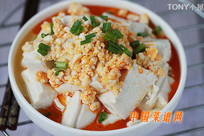 咸鸭蛋拌豆腐