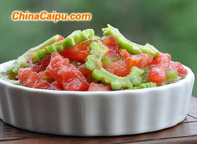 番茄拌苦瓜