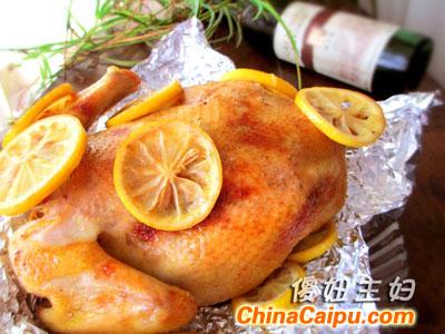 迷迭香柠檬烤鸡(2)