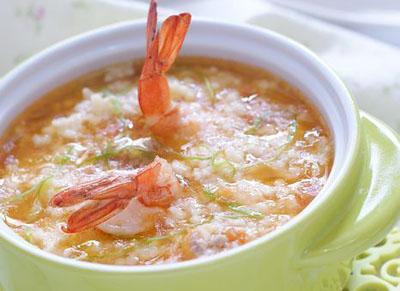 小米鲜虾疙瘩汤