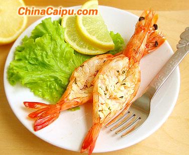 黄油烤鲜虾