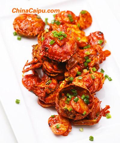 螃蟹辣白菜