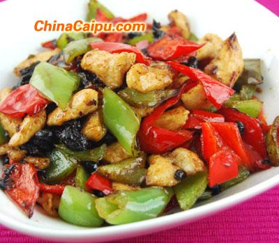 豆豉双椒鸡片