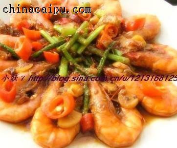麻辣芦笋虾的做法