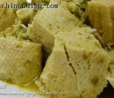 菜花酱炖冻豆腐