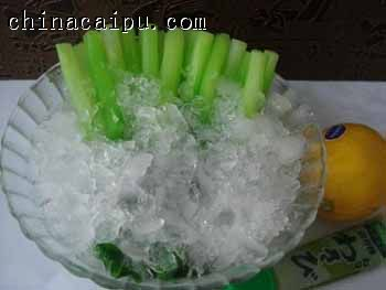 冰浸芥兰的做法