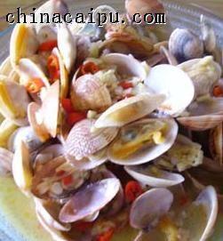 蒜蓉辣味花蛤的做法