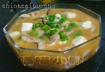 豆腐烩鱼片