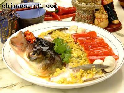 酱辣椒鱼头的做法