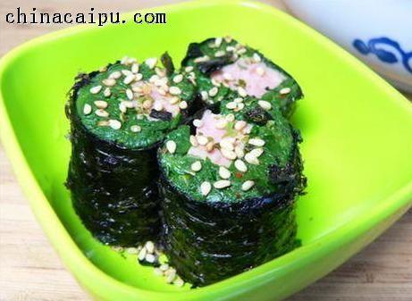 菠菜海苔肉卷的做法