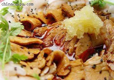 蒜泥白肉片的做法