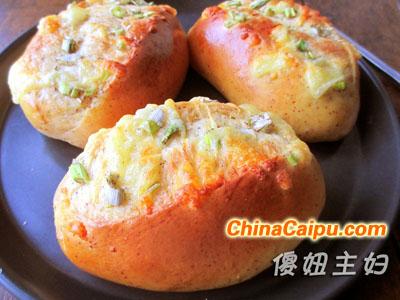 红枣香葱奶酪咸面包