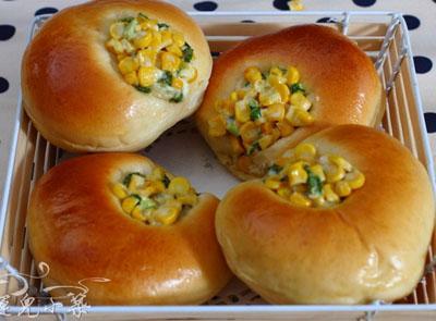 玉米沙拉面包(2)