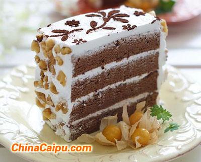 可可奶油蛋糕