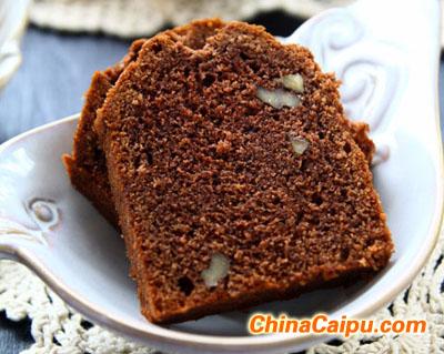 巧克力香蕉核桃磅蛋糕