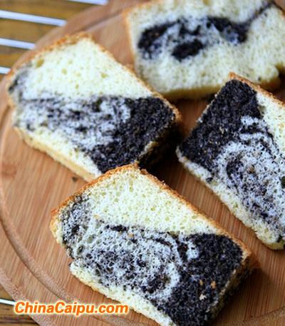 黑芝麻戚风蛋糕(3)
