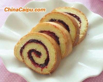 黑布林果酱蛋糕卷