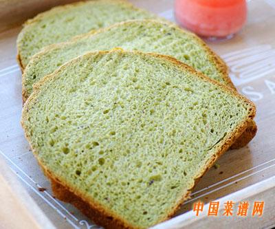 抹茶蜜豆吐司(面包机版)