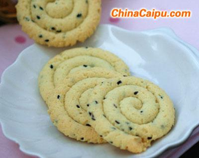 黑芝麻蛋白饼干