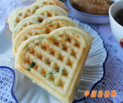 葱花华夫饼