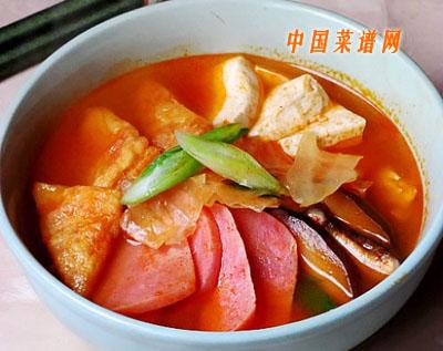 韩式火腿泡菜豆腐汤
