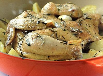 意式香草烤雏鸡
