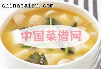 日式豆腐蘑菇酱汤