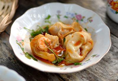 红油虾仁猪肉馄饨