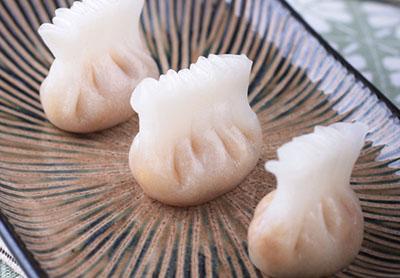 自制鸡冠小笼包 玉米水饺