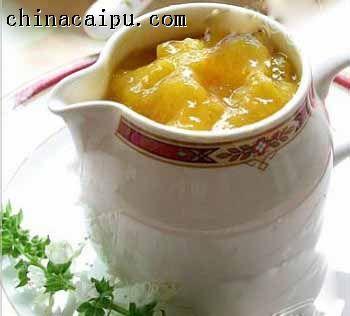 香蕉橙子果酱(快速法)