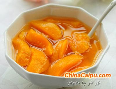 自制水果罐头--黄桃糖水