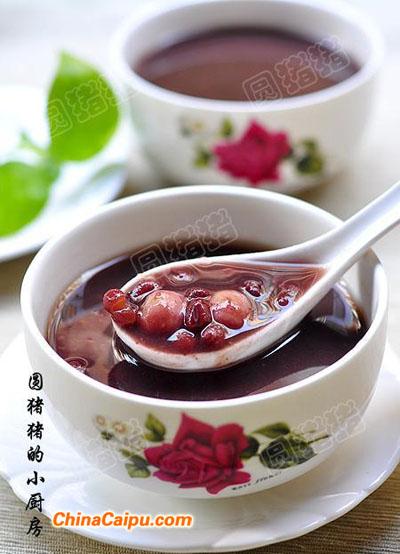 红豆百合莲子糖水