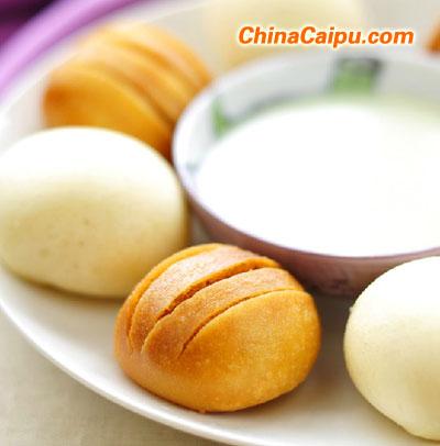 国庆佳节宴客主食――金银馒头