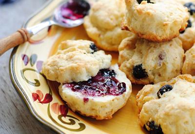蓝莓奶油松饼