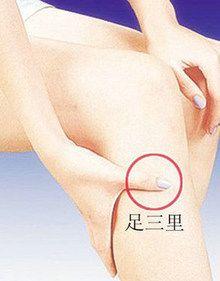 治疗男性早泄穴位 艾灸足三里穴