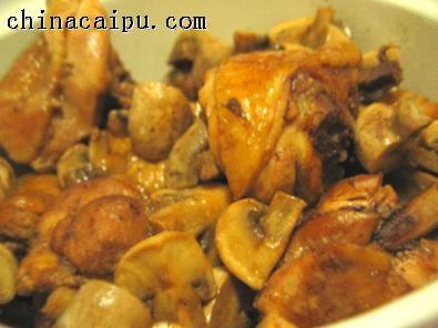 平锅口蘑鸡