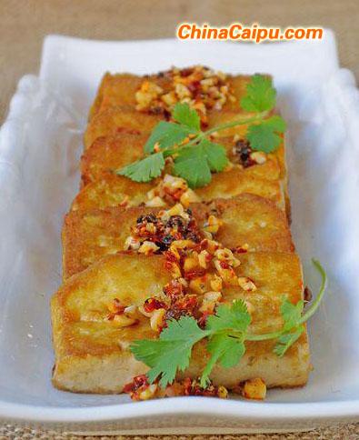 鱼香煎豆腐
