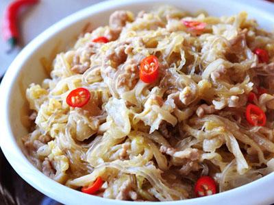 酸菜粉丝炒肉